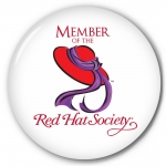 6pk Red Hat Society button artwork #S1