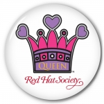 Red Hat Society button artwork #S11