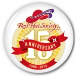 Red Hat Society button artwork #S17