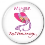 Red Hat Society button artwork #S2