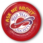 Red Hat Society button artwork #S28