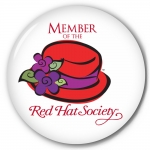Red Hat Society button artwork #S3