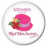 Red Hat Society button artwork #S4