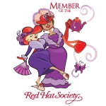 Red Hat Society badge artwork #S13