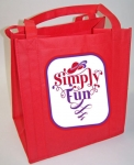 Red Tote Bag SIMPLY FUN Design