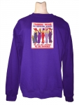 PURPLE SWEATSHIRT W/ A STANDING PROUD SUPPORTING MEMBER DESIGN  SM-2XL