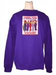 PURPLE SWEATSHIRT W/ A STANDING PROUD SUPPORTING MEMBER DESIGN s Optional Purple T-shirt SM-2XL