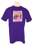 PURPLE T-SHIRT W/ STANDING PROUD SUPPORTING MEMBER Purple T-shirt SM-4XL
