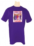 PURPLE T-SHIRT W/ STANDING PROUD SUPPORTING MEMBER DESIGN R. Purple T-shirt SM-4XL