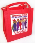 Red Tote Bag Standing Proud R Design